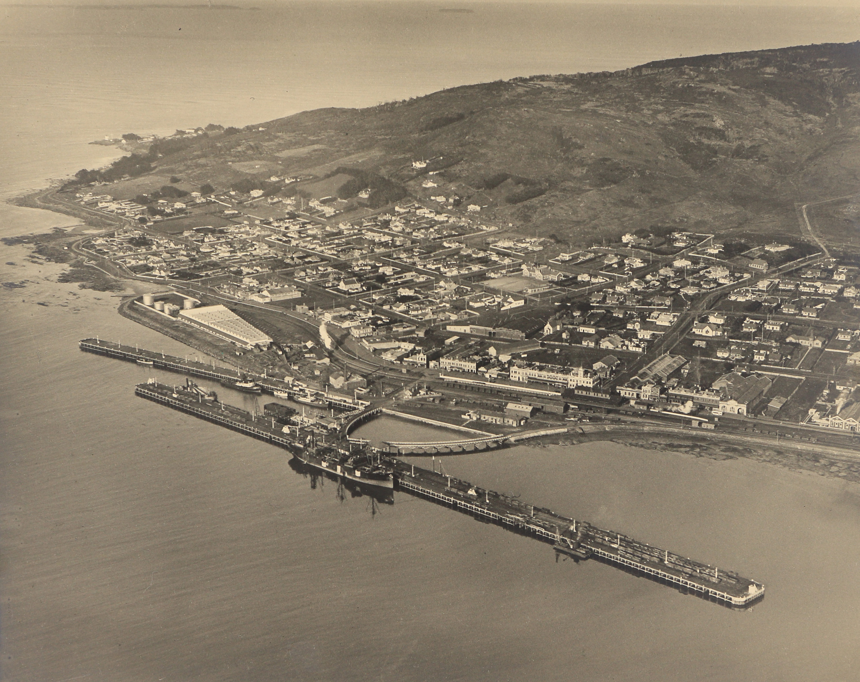 Aerial View of Bluff Harbour